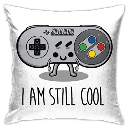 I Am Still Cool SNES Controller Pillowcase, Double-Sided Printing, Hidden Zip Pillowcase, Beautiful Printed Pattern Pillowcase 18X18INCHES