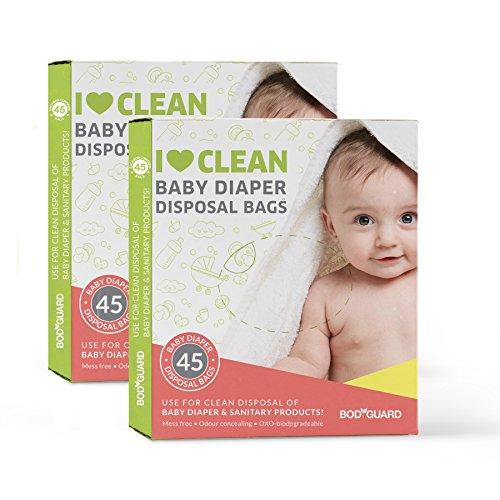 Sirona Babywindeln & Hygienebeutel 90 Stück | Diskrete Entsorgung und Geruchssiegelung für Windeln und Intimpflegemittel (90 Beutel)