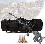 Bolsa de escopeta que acampa, Caja táctica de doble rifle, cajas de rifle suave con dos capas de rifle, cojín de pedestal, base de magia base fija, bolsa de almacenamiento de rifle para escalar, pesca