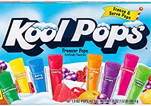 (12 Pack) of Kool Aid Pops Freezer Pops (16 popsicles in each box. 192 Total) No Tax