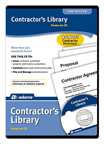Adams Contractor's Library, Forms on CD (SW2435)