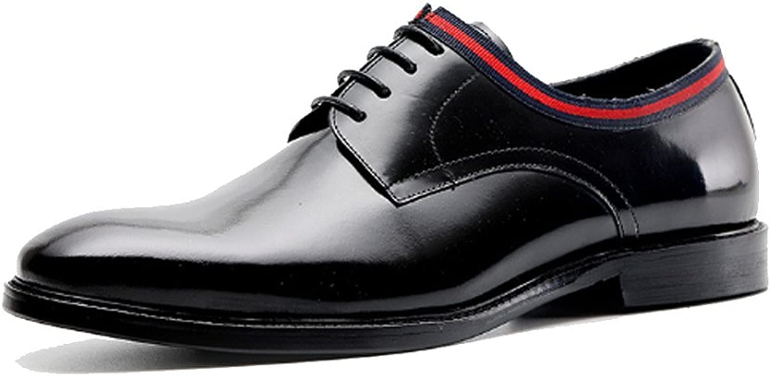 NIUMJ Herrenmode Business Casual British Breathable Schnürschuhe