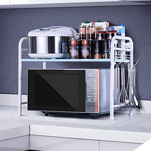 BNcfzwj Bolsa de Almacenamiento de Acero Inoxidable Rejilla for condimentos Utensilios de Cocina multifunción de Piso Rejilla for Horno microondas (Color : B)