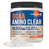 Nutrasumma BCAA Amino Clear, Natural Orange, 380g - Vegan Fermented BCAA's, Glutamine, Arginine, Maca, Suma - Energy, Recovery