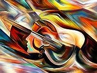 大人のジグソーパズル2000ピース大パズルゲーム-抽象芸術キャラクターギター家の装飾アートワーク、オフィスの壁の装飾絵画、ギフト