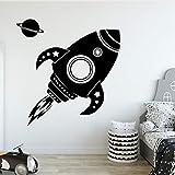 Diy rocket familia pegatinas de pared arte mural habitación de los niños decoración del hogar decoración de fiesta familiar papel tapiz pegatinas de pared A2 58x59cm