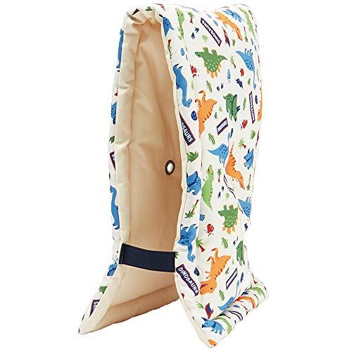 スケーター 座布団 椅子クッション 防災頭巾 子供用 24×42cm ディノサウルス KBZU1-A