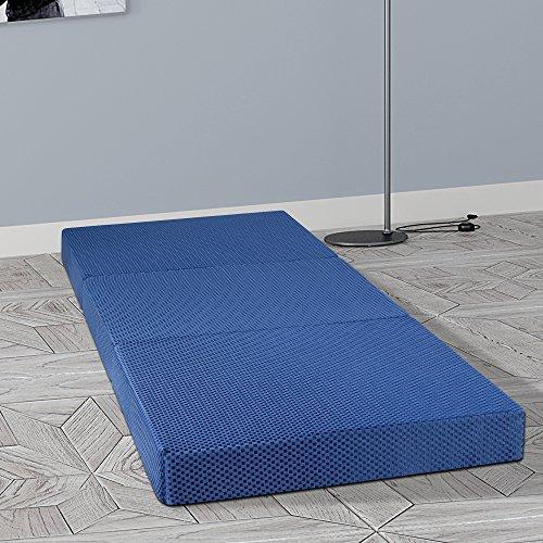 GranRest 4'' Tri Folding Memory Foam Mattress, Single size 75 x 25\