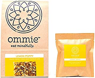 Ommie Snacks Nut-Free Energy Bar (7 Pack) - Lemon Poppy Fruit & Seed Bar | Allergy Free: Nut Free, Gluten Free, Soy Free, Egg Free, Dairy Free | Vegan | Free of Junk: No added sugars, dates or oats