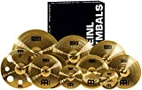 "Meinl Cymbals Ultimate Cymbal Set Box Pack with FREE 16"" Trash Crash – Traditional Brass Finish..."