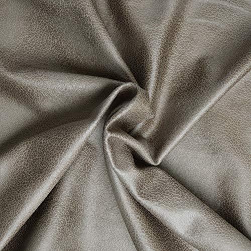 Tejido de antelina con efecto piel sintética, grosor medio, magnífica calidad, tejido de piel sintética con revestimiento – Tejido de piel sintética con efecto ante (corte de 1 m x 1 m40) (topo).