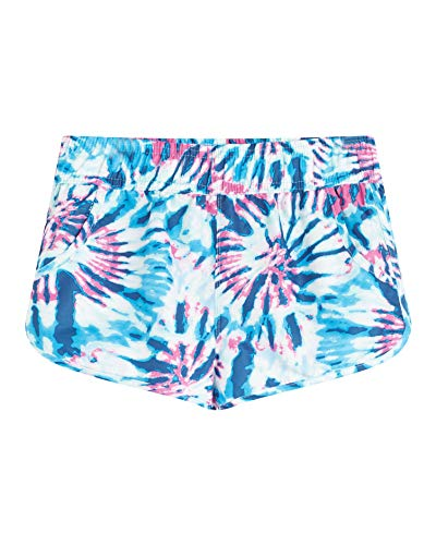 Kanu Surf Girls' Sandy UPF 50+ Quick Dry Beach Elastic Waist Boardshort, Camille Denim, 7