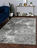 Unique Loom Sofia Collection Traditional Vintage Area Rug, 9' 0 x 12' 0 Rectangular, Gray/Ivory