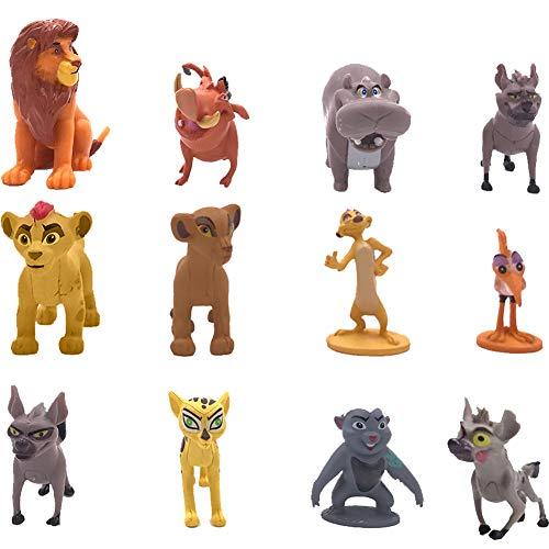 WENTS Miotlsy 12 Stück The Lion King Mini Figuren Set, Geburtstags Party liefert Cupcake Figuren, Party Kuchen Dekoration Lieferungen, Cake Topper für Kind Junge Mädchen Dekoration Geburtstags