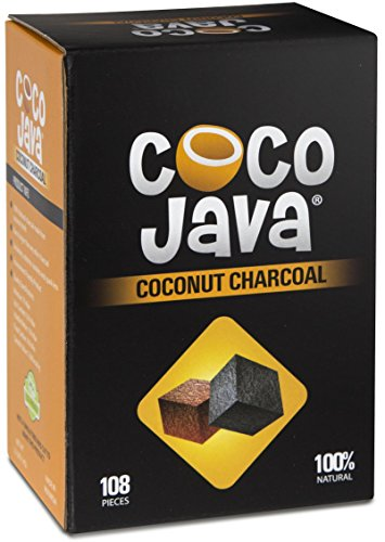 Coco Java Coconut Charcoal Natural Hookah Coal 108 Pieces / 1 KG Flats