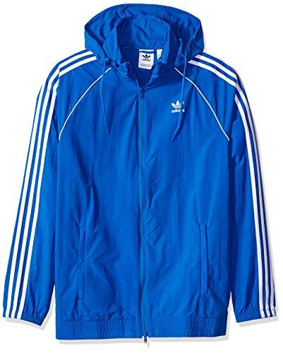 adidas Originals Men's Superstar Windbreaker, blue bird, L