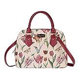 Signare tapiz mochila bandolera bolsos pequeños para mujer con diseños de Floral (Tulipán)