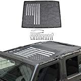 American Flag Sun Shade Mesh Bikini Top Sunshade UV Protection for 2018 2019 Jeep Wrangler JL JLU 4 Door
