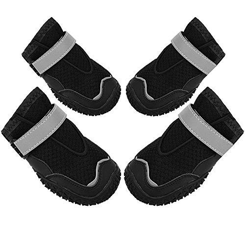 N/ A Chaussures de Chien pour l'extérieur, Chaussures pour Animaux de Compagnie Patte protectrice Bottes de Chien, Trou Respirant et Chaussures de Chien antidérapantes pour Les Grands Chiens