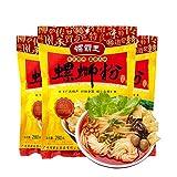 柳州 螺霸王螺蛳粉 【3点セット】インスタント麺 好吃的速食米粉 ルオスーフエン 中華食材 広西省名物 280g