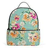 Mochila floral para mujeres adolescentes y niñas, bolso de moda, bolsa de libros, para viajes, universidad, informal, para niños preescolares, regreso a casa, suministros mini