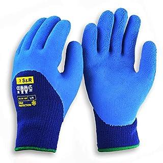 scheda s&r guanti da lavoro termici invernali. fodera in acrilico riscaldante e rivestimento in lattice idrofugo. 2 paia- taglia l/9