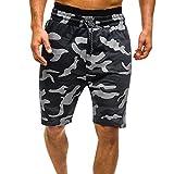 Homme Shorts de Bain Plage Natation Bermuda Taille Élastique Pant Court de Sport...