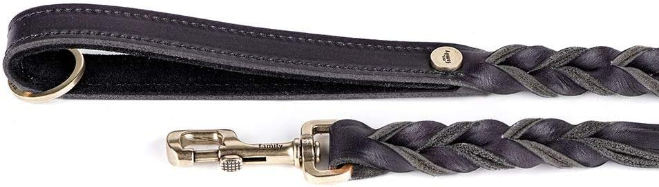 My Family Ascot Genuine Braided Italian u Leather Dogs Regular discount Leash NEW for