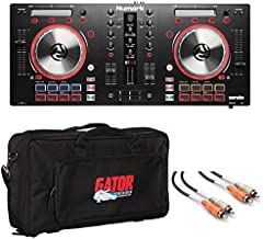 Numark Mixtrack Pro 3 | USB DJ Controller with Trigger Pads & Serato DJ Lite Download + Gator Gig Bag for Micro Controllers & Stereo Interconnect Cable - Top Value Bundle