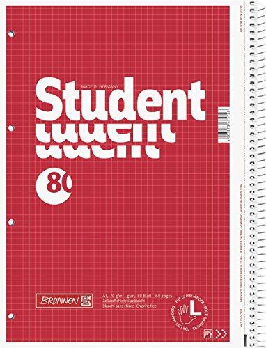 Brunnen Colegio Bloc de notas Izquierda A4 28 Líneas 80 hojas