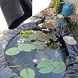 Forro para Estanque, Negro Anti-filtración Revestimiento De Estanque, Fácil De Limpiar Fish Pond Liner, Estanques Prefabricados para Jardin, para Fuentes (Varios Tamaños)