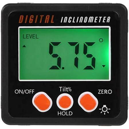 LCD Digital Protractor Gauge Level Box Angle Finder Inclinometer Magnet Meter