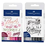 Faber-Castell 267124 Pitt Artist Pen Lettering - Bolígrafos (8 unidades), color rosa, Tonos rosados y set de iniciación, 1