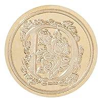 Wanl シーリングワックス 銅製ヘッドをシール 印鑑 印章 ワックスシールスタンプ 英文字 スタンプ封筒 ギフトカード D