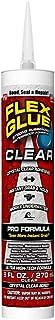 Flex Seal Glue Clear 9 oz PRO Formula - Super Strong Transparent Waterproof Adhesive