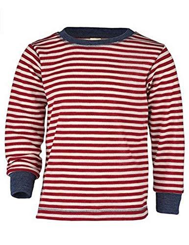 Engel Natur, Kinder Shirt/Pullover, 100% Wolle (kbT) (92, Rot Melange/Natur)