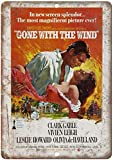 Froy Gone with The Wind Clark Gable Wand Blechschild Retro
