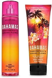Bath and Body Works - Bahamas Passionfruit & Banana Flower - Fine Fragrance Mist and Ultra Shea Body Cream - Full Size –2020