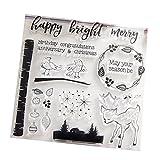 Wiffe T1044 Transparenter Stempel Silikon Dichtung für DIY Scrapbook Tagebuch Album Foto Bright Merry -