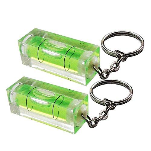 Schlüsselanhänger mit Wasserwaage, Semoik-Wasserwaage, 2 Stück