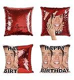 Happy Birthday Nicolas Cage Faces Actor P27 Sequin Pillow, Almohada, Sequin Pillowcase, Funda de Almohada, Scales Pillow, Pillow Gift, Magic...