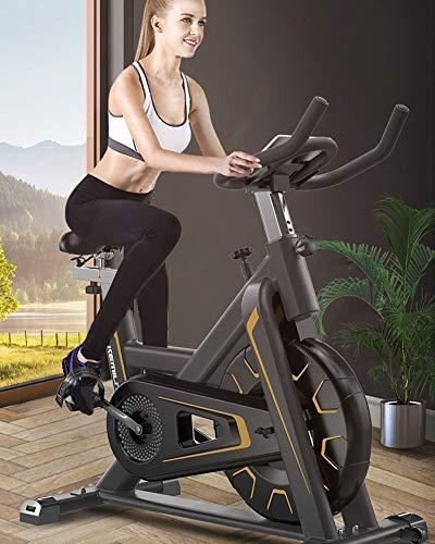 GOYAN Bicicleta estáticas para Fitness, Fitness Bici de Spi