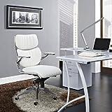 Modway Escape Ribbed Faux Leather Ergonomic Computer Desk Office...