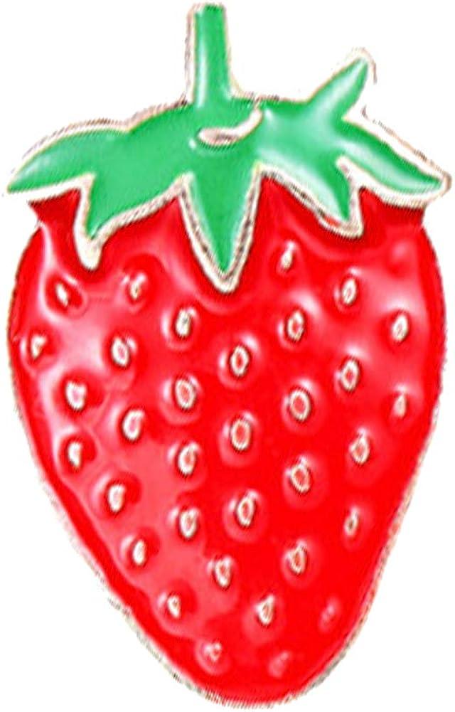 Walbest Brooch Pins for Women, Cute Cartoon Enamel Mini Fruit Brooch Pin Denim Jacket Shirt Collar Badge GiftApple