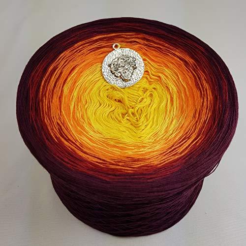 (69,00€/kg) Bobbel Farbverlaufsgarn 1001 Nacht 250g - 950m Chianti außen 4 fädig Märchengarne Wolle