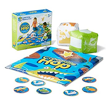 Learning Resources Crocodile Hop Floor Game Early Learning Skills Easter Games Individual or Group Play Easter Gifts for Kids Ages 3+