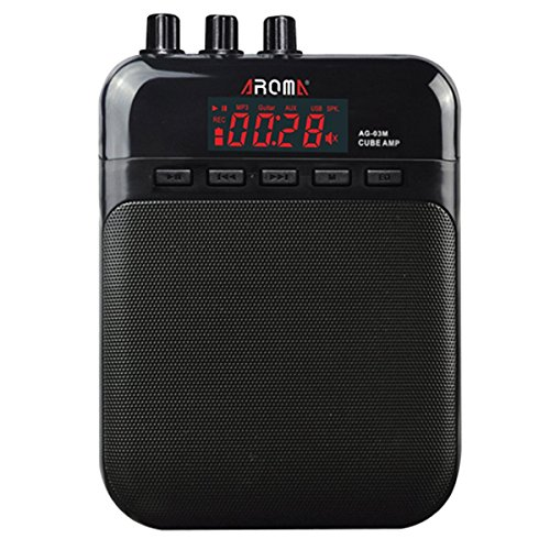 amiciSound AROMA Mini Portable 3W Guitar Amplifier Recorder Speaker with USB Cable to Recharge