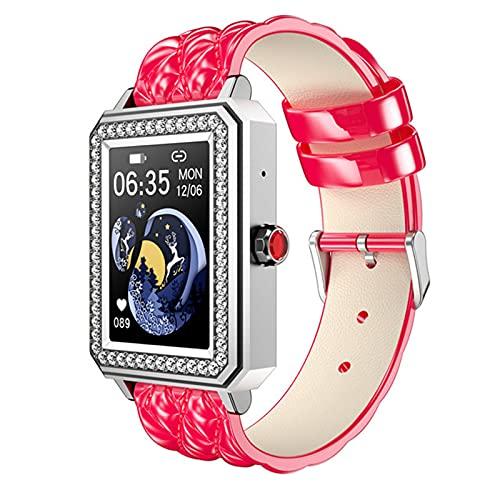 LKM M66 Hembra Pulsera Inteligente Bluetooth Llamada Ritmo cardíaco presión Arterial oxígeno Hembra periodo Menstrual Reloj de niña,D