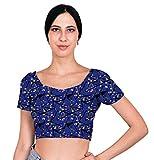 eloria Blusa Cosida de Las Mujeres Indias Choli Acolchado de