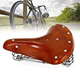 Nfudishpu Retro Fahrradsattel Fahrradsitzkissen Herren Damen Cityrad Sattel